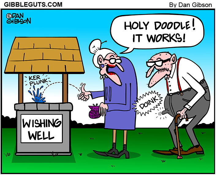 wishing well cartoon