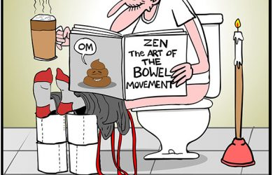 bowel movement cartoon