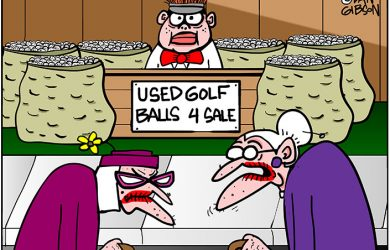golf balls cartoon