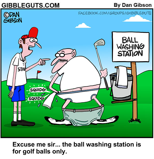 seniors golfing cartoon