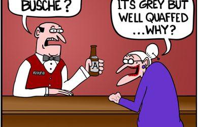 bartender question cartoon