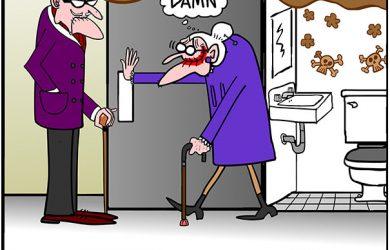 public washroom cartoon