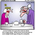 dissapointed old lady cartoon