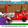 poop cleanup cartoon