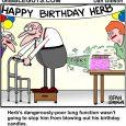 blowing birthday candles cartoon