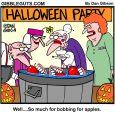 bobbing for apples cartoon