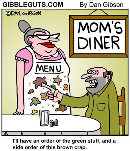 Diner menu Cartoon from Gibbleguts