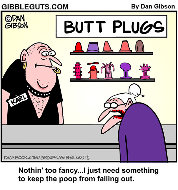 Shopping with butt plug