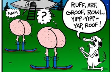 dog and alien cartoon