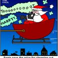Santa Reindeer cartoon