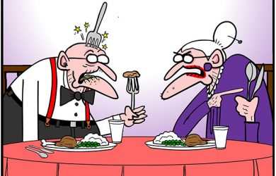 chewing with mouth open cartoon