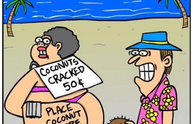 tourist cartoon