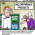 old lady incontinence cartoon