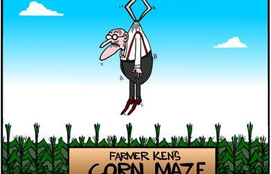 corn maze cartoon