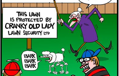 lawn protection cartoon