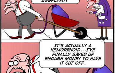 egg plant cartoon