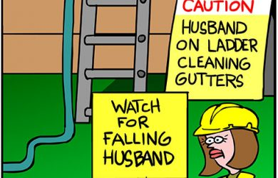 falling husband
