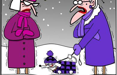 cold weather cartoon