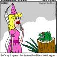 frog and princess cartoon