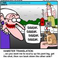 old lady and hamster cartoon