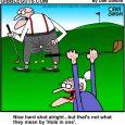 golfing cartoon