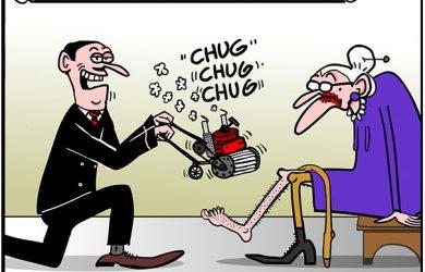 lady shaver cartoon