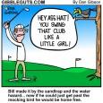 golf hazard cartoon