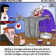 dating a younger woman cartoon