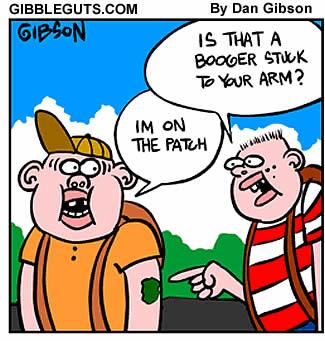 booger patch cartoon
