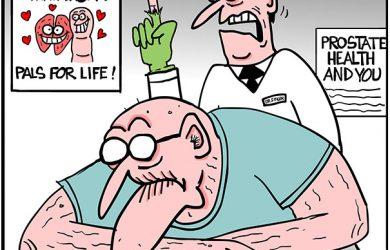 herbs prostate exam cartoon