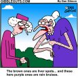 liver spots cartoon