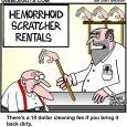 hemorrhoid scratcher cartoon