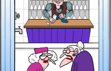 shower safety bar cartoon