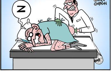 prostate exam cartoon
