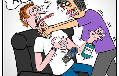wife snapped cartoon