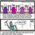 drooling seniors cartoon
