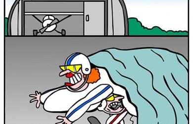 skydive cartoon