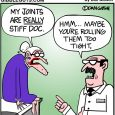 stiff joints cartoon