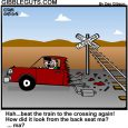 Beating the train