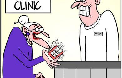 false teeth cartoon
