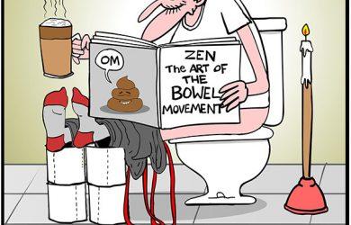 bowel movement cartoon